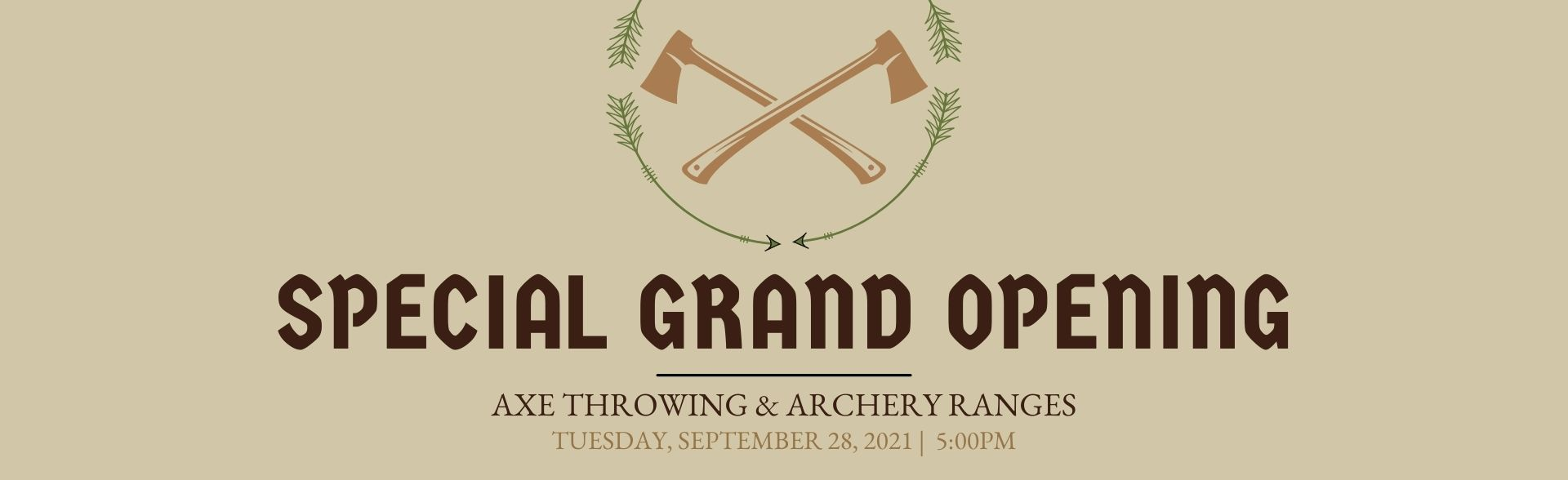 Archery & Axe Throwing Grand Opening FT Banner